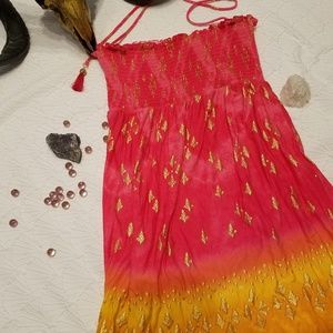 Juicy Couture Smocked Sun Dress Boho L